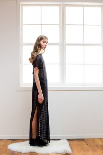 Temptation sheer silk maxi