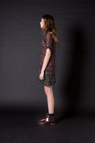 Spotted Silk Velvet Dress